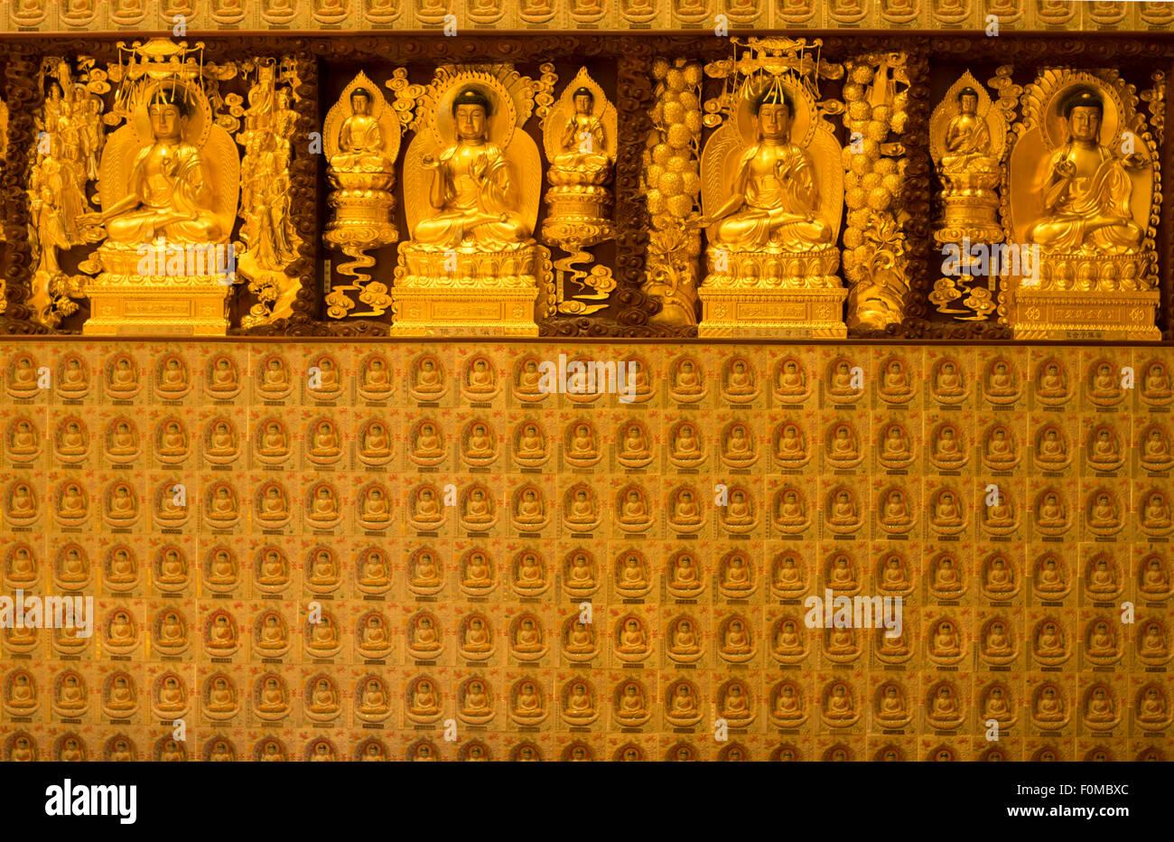 Po Lin Monastery, Lantau Island, Hong Kong - Stock Image