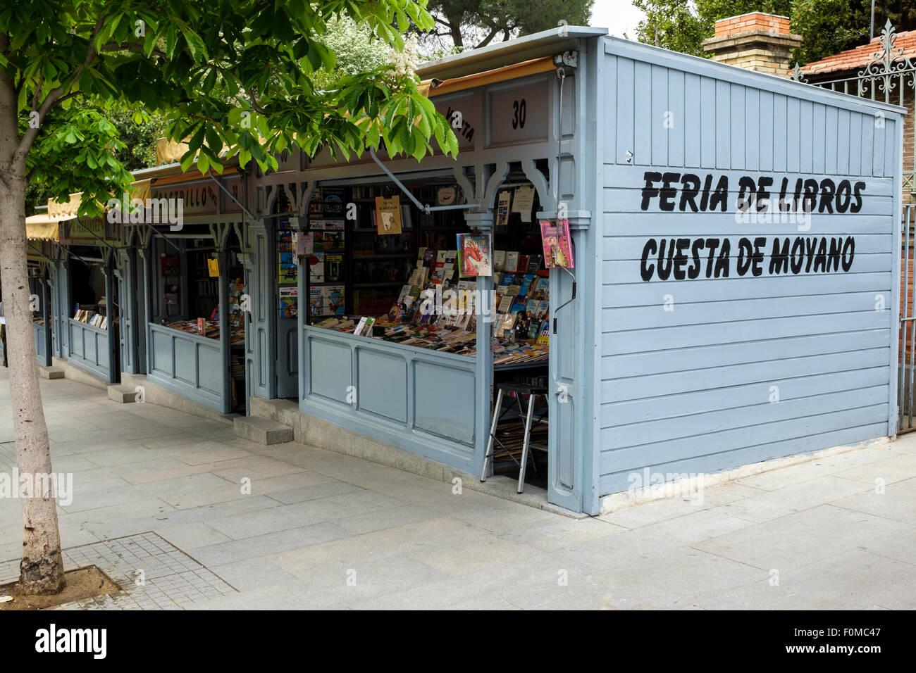 The Cuesta de Moyano, Book Fair, in Madrid Spain. - Stock Image