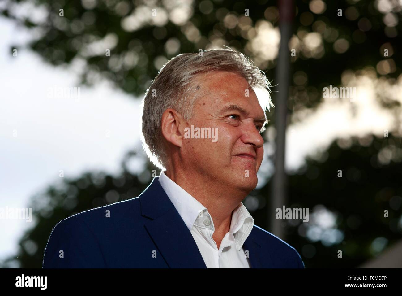 Edinburgh. UK. 17th August. Edinburgh International Book Festival. pictured Iain Macwhirter during Edinburgh International - Stock Image