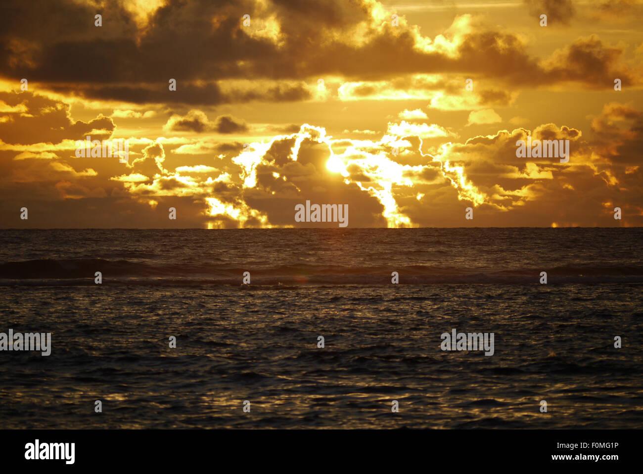 Sunset, Banda Aceh, Sumatra, Indonesia - Stock Image