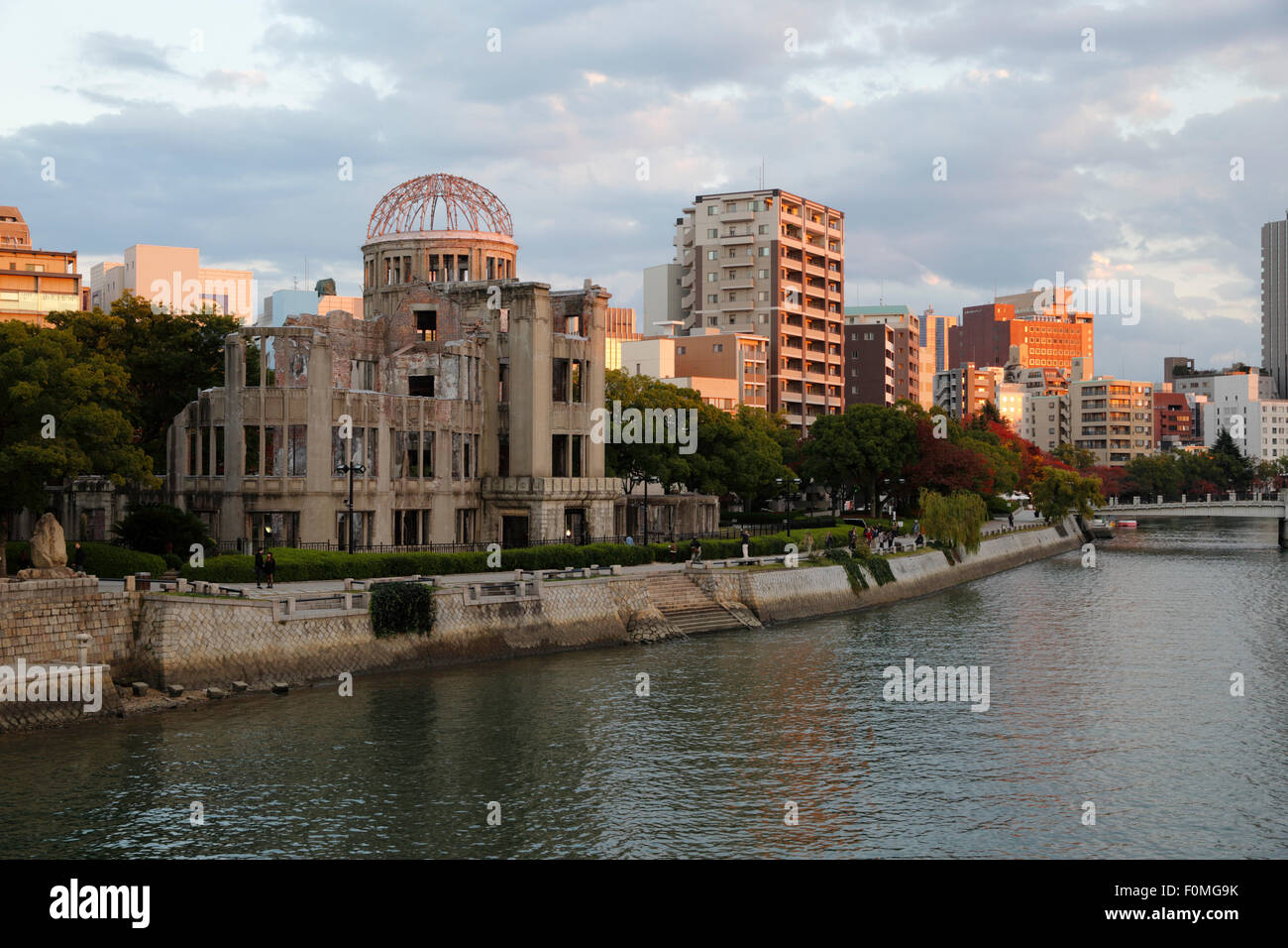 Atomic Bomb Dome on the Motoyasu-gawa River, Hiroshima, Western Honshu, Japan, Asia Stock Photo