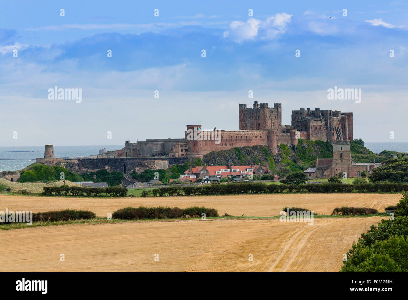 Bamburgh castle, Northumberland, England - Stock Image