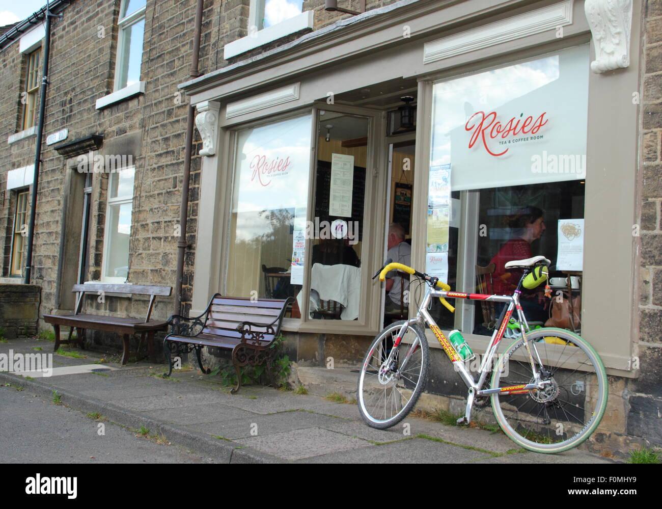 Rosie's Tea & Coffee Room in Hayfield, High Peak, Derbyshire, northern England UK - Stock Image