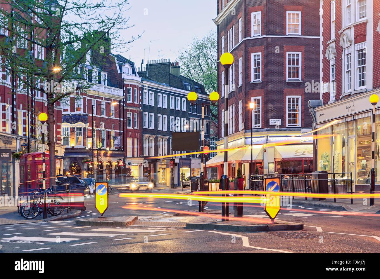 Marylebone High Street, London. - Stock Image
