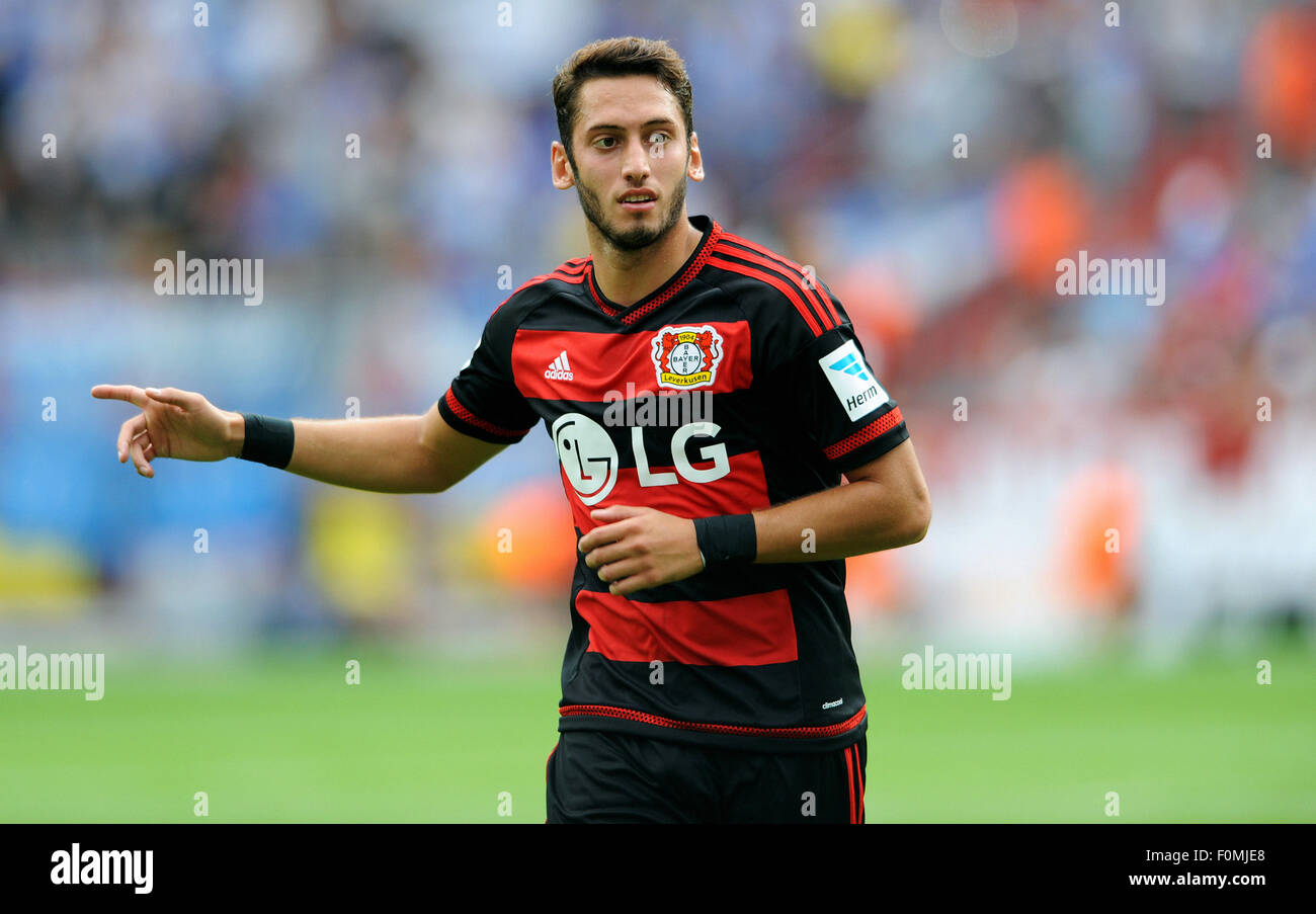 Football, Soccer, Germany, Bundesliga, Season 2015/2016, BayArena, Bayer Leverkusen vs 1899 Hoffenheim; Hakan Calhanoglu - Stock Image
