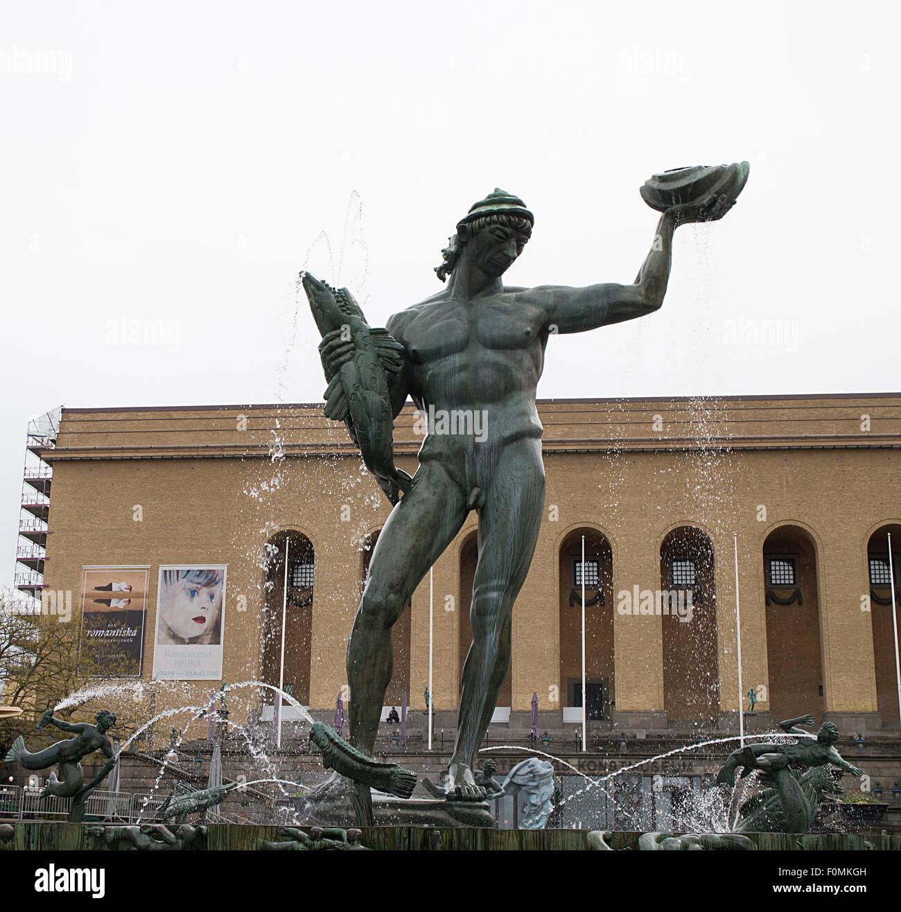 Poseidon statue, Gotenburg, Sweden - Stock Image