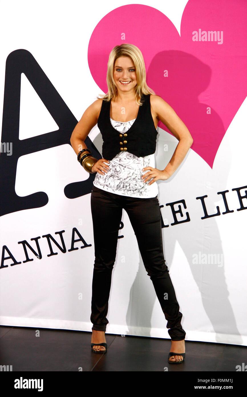 Jeanette Biedermann - Fototermin anlaesslich des Starts der TV-Serie/ Telenovela 'Anna und die Liebe' (SAT1) - Stock Image