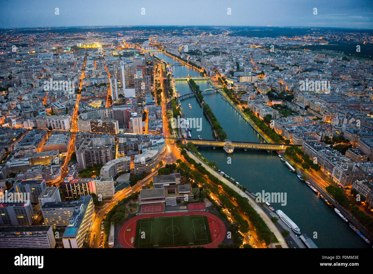 View from the Eiffel Tower in Paris Stock Photo