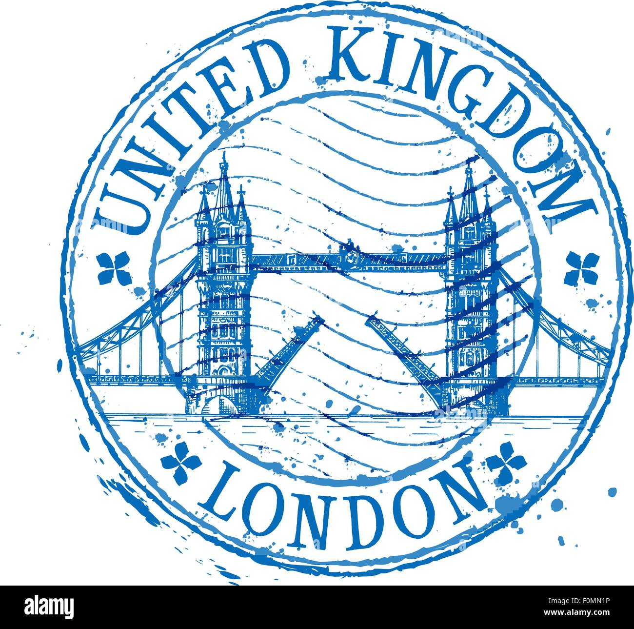 United Kingdom vector logo design template. stamp or England, London icon - Stock Vector