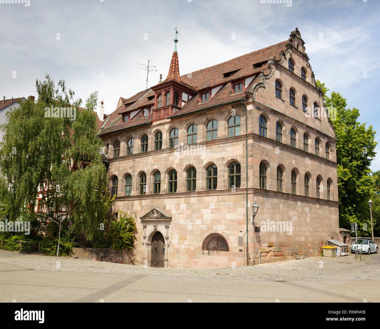 Herrenschiesshaus, built 1582-83, Andreij-Sacharow Square, Nuremberg, Bavaria, Germany - Stock Image