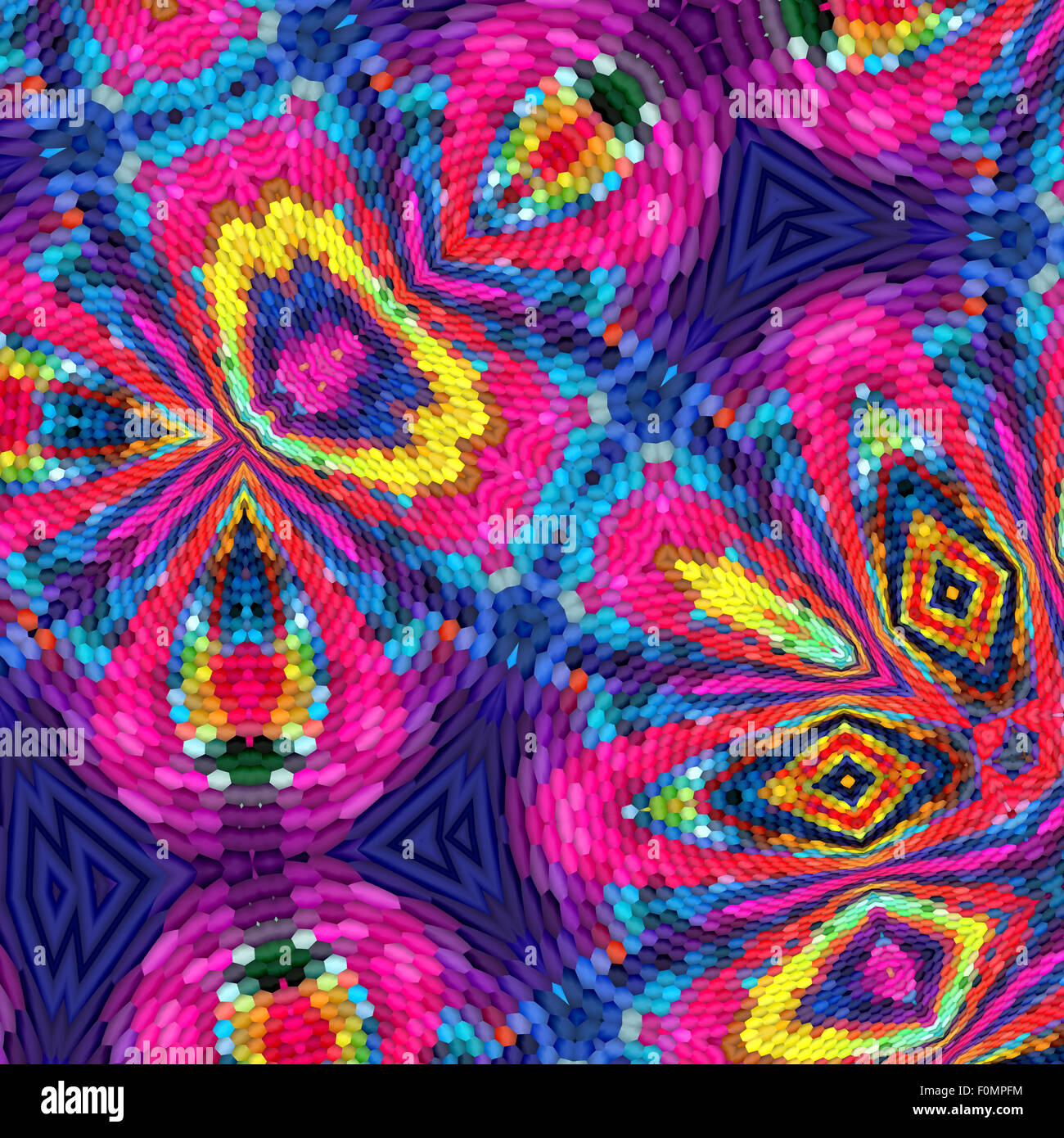 Colorful abstract fractal background Stock Photo