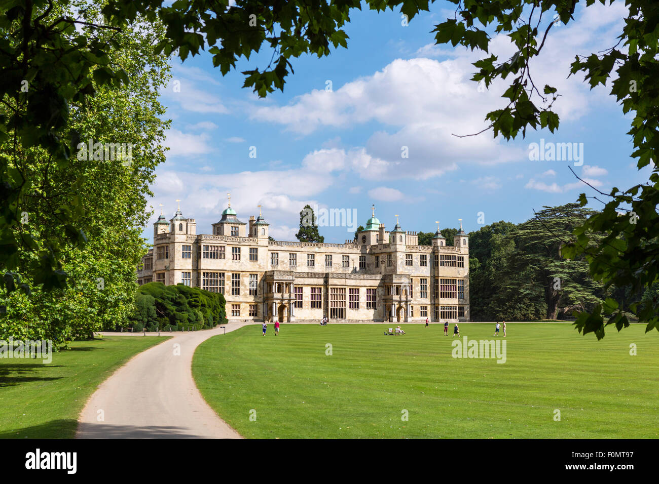 Audley End House, a 17thC country house near Saffron Waldon, Essex, England, UK - Stock Image