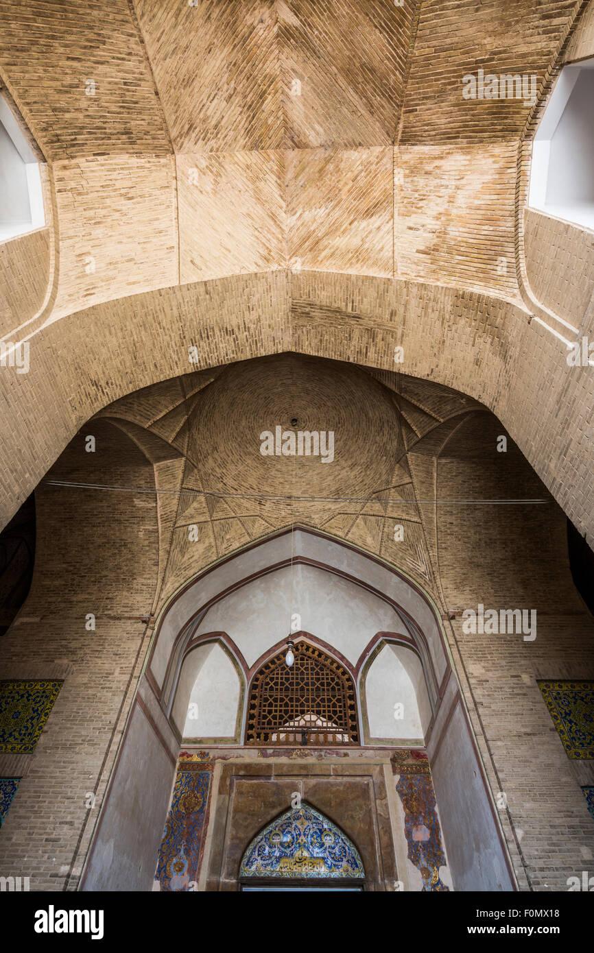 entrance of Ali Qapu, Maidan-i Shah, Isfahan, Iran Stock Photo