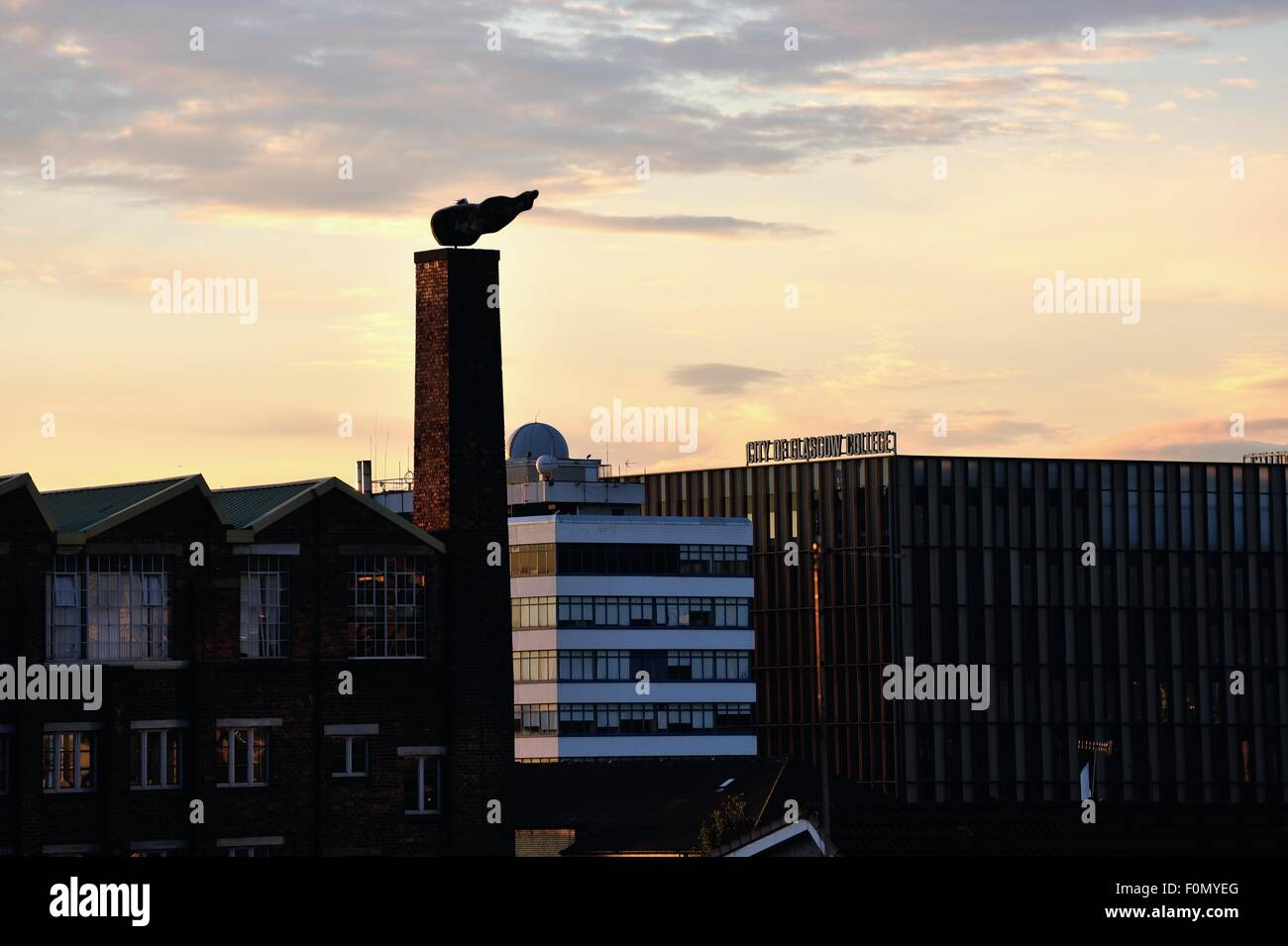 Glasgow, Scotland, UK. 18th August, 2015. Glasgow City College's new riverside campus adds to the Glasgow skyline Stock Photo