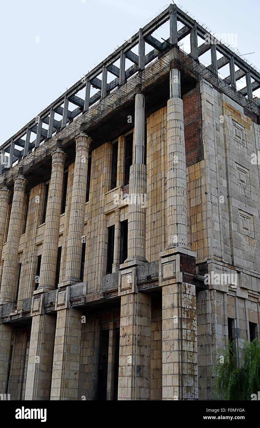Unfinished Romanian Academy building - Stock Image