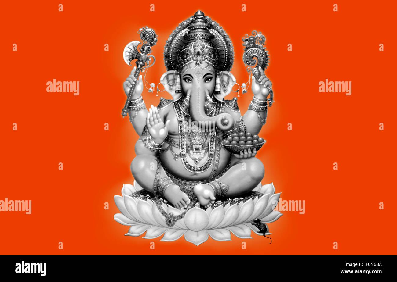 Black And White Ganesha Statue Stock Photos Amp Black And