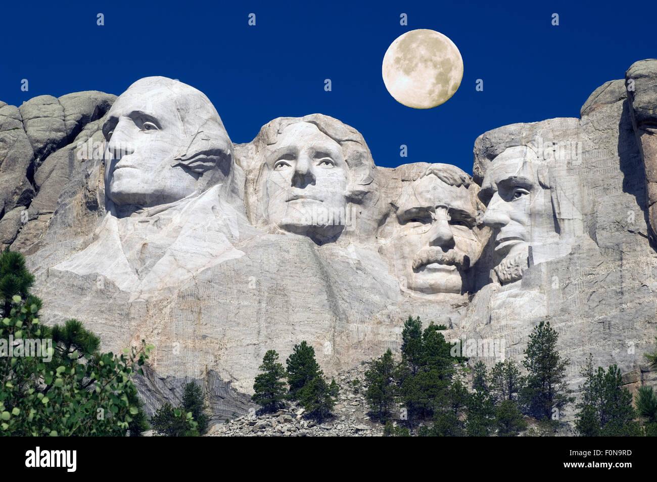 Mount Rushmore National Monument. Black Hills, South Dakota, USA. Stock Photo