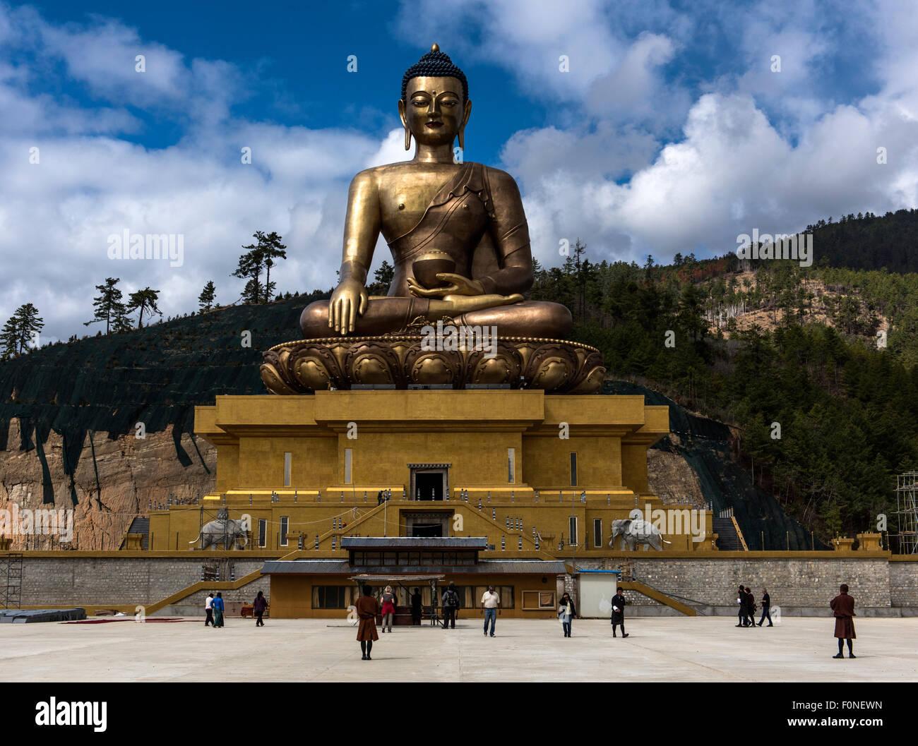 Buddha Dordenma statue Thimpu Bhutan - Stock Image