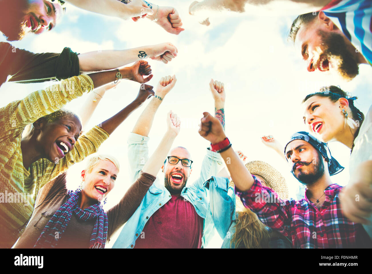 Friends Friendship Leisure Togetherness Fun Concept - Stock Image