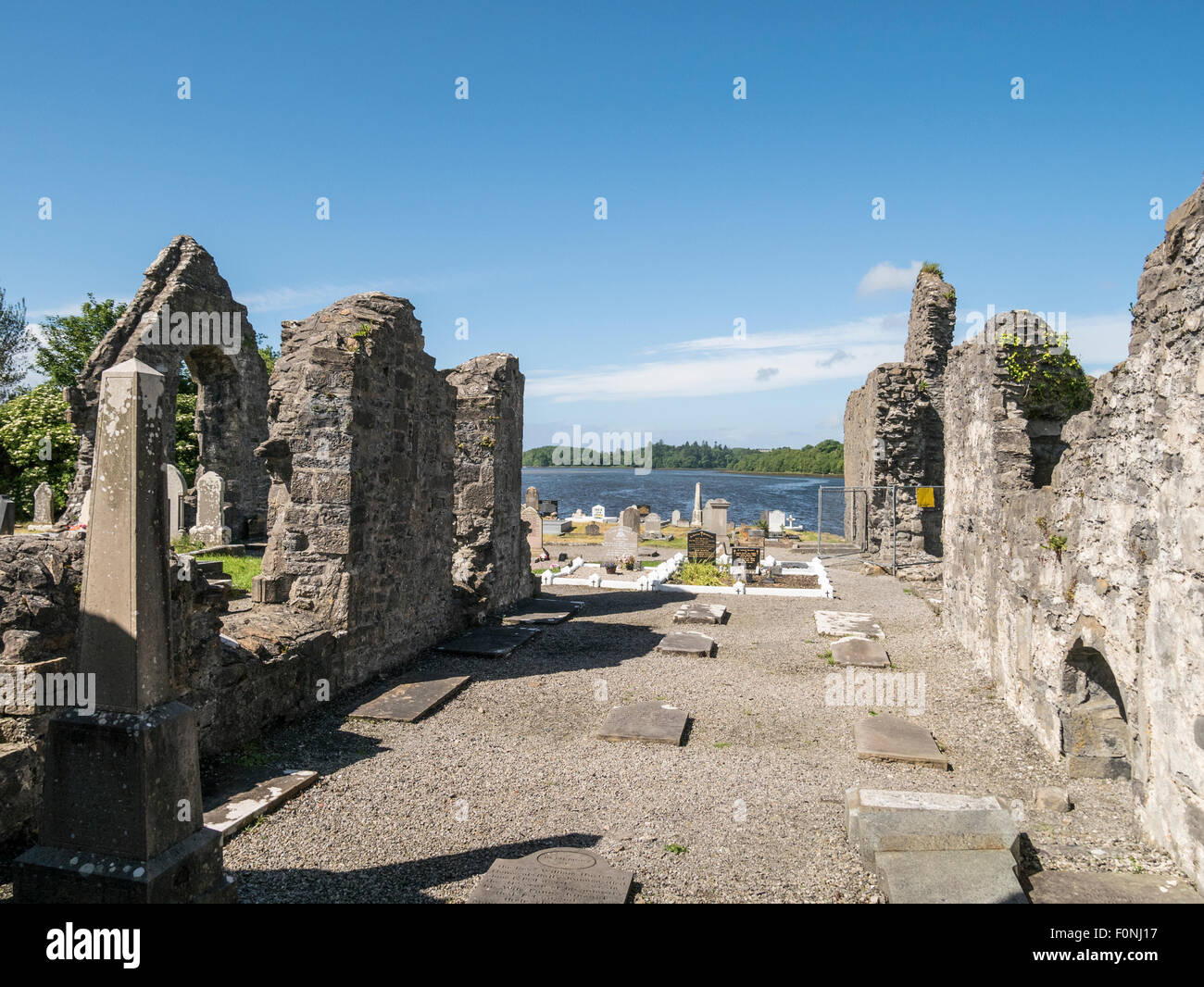 Donegal Friary founded by Franciscan Friars in 1474 Ireland - Stock Image