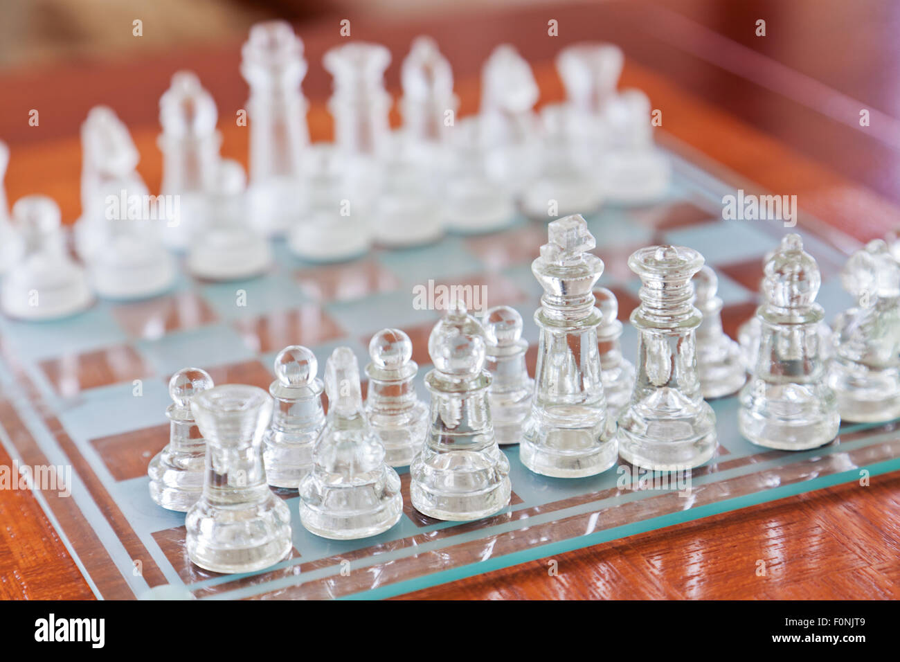 Glass chess - Stock Image