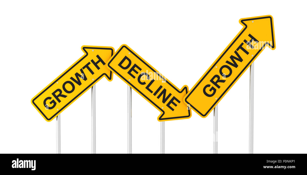 Growth and decline - Stock Image