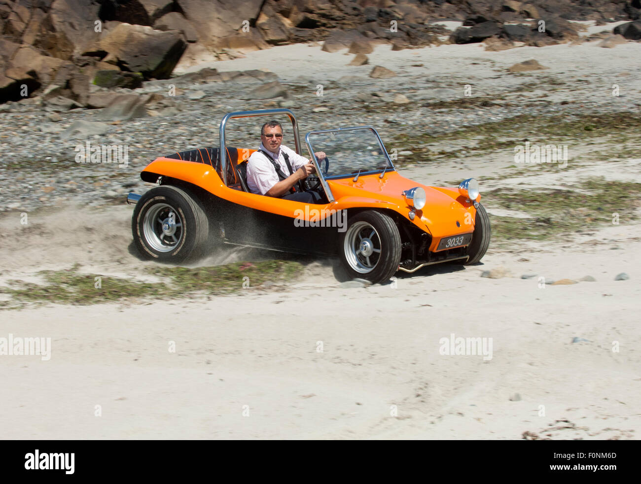 Beach Buggy On A Sandy Beach Vw Beetle Based Dune Buggy