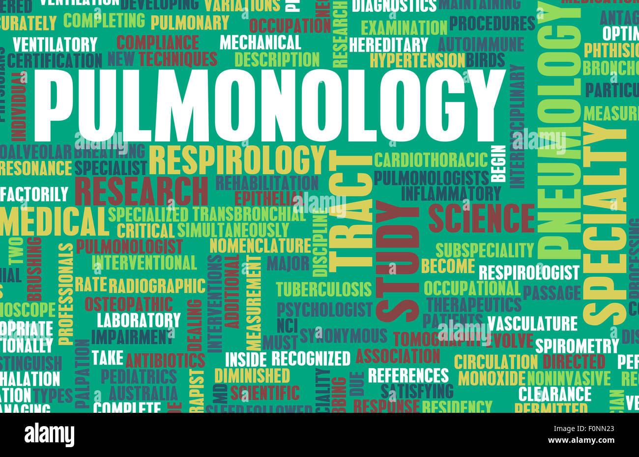 Pulmonology or Pulmonologist Medical Field Specialty As Art - Stock Image