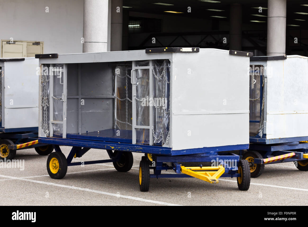 Airport baggage trolley - Stock Image