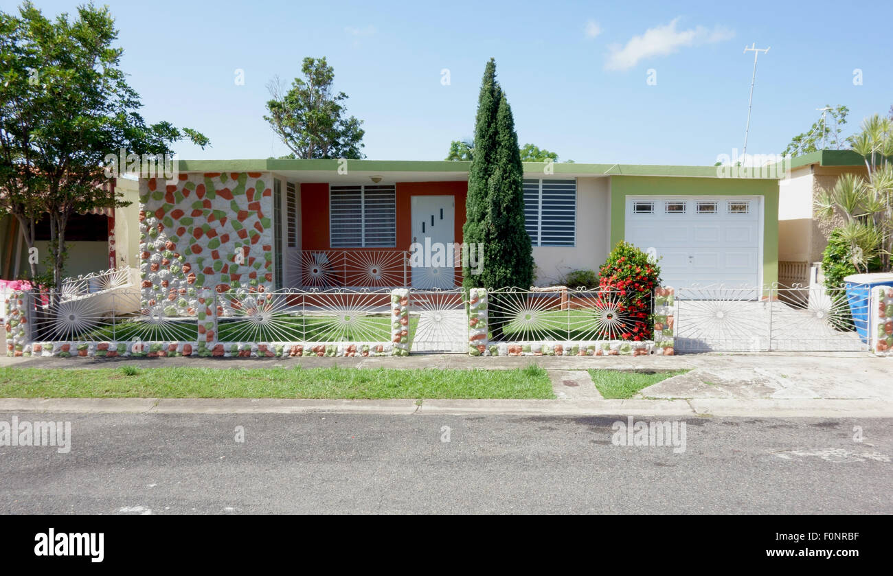 A condominium house in Aguadilla Puerto Rico - Stock Image