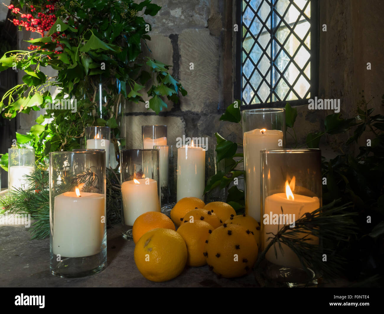 Medieval Christmas decorations during Tudor event at ...