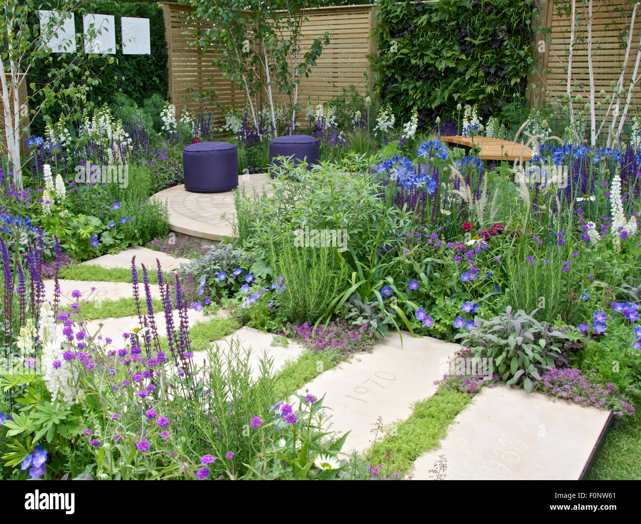 The wellbeing of women garden at rhs hampton court palace flower show stock photo 86532601 alamy - Hampton court flower show ...