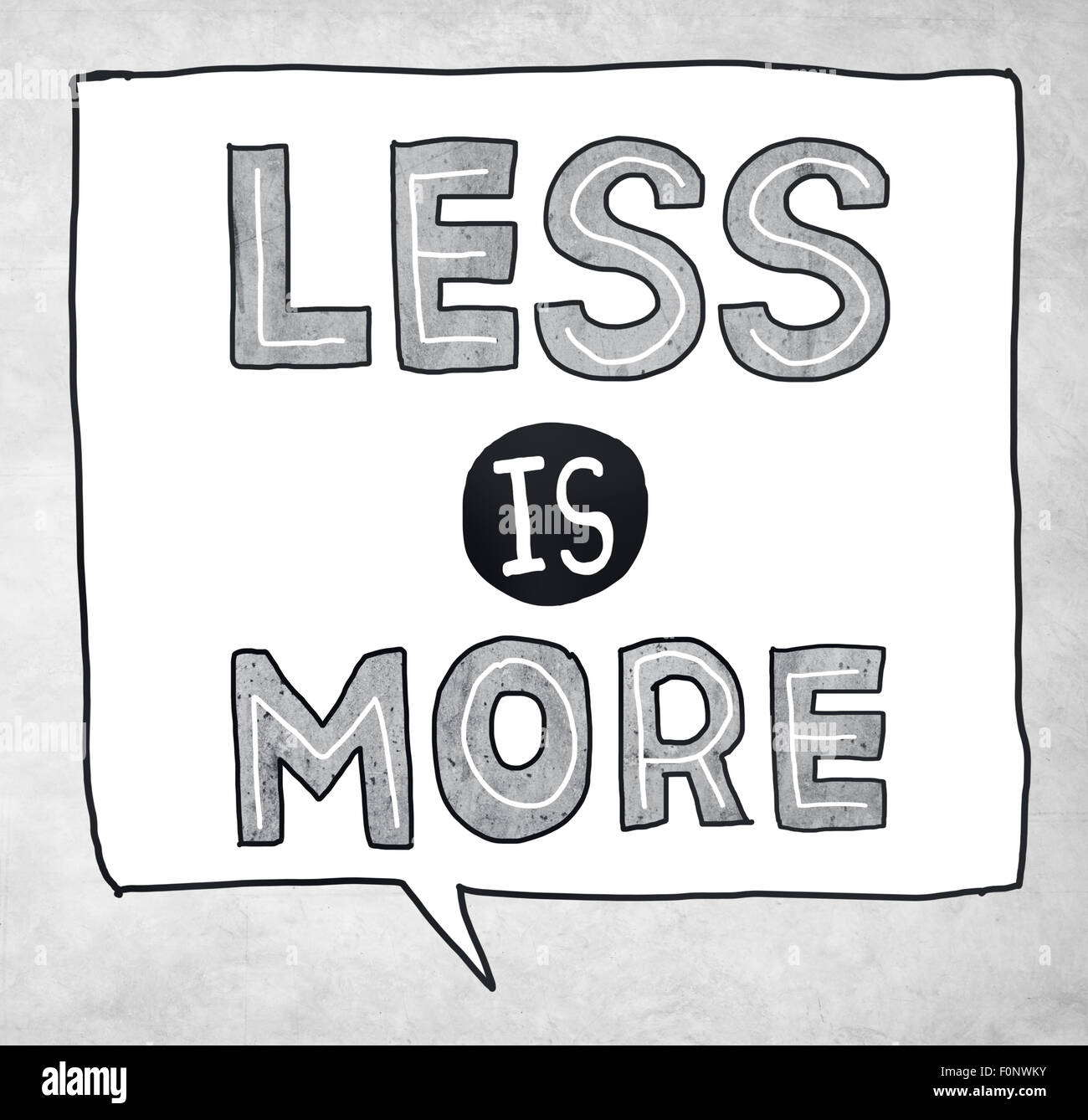 Less is More Minimal Simplicity Efficient Complexity Concept - Stock Image