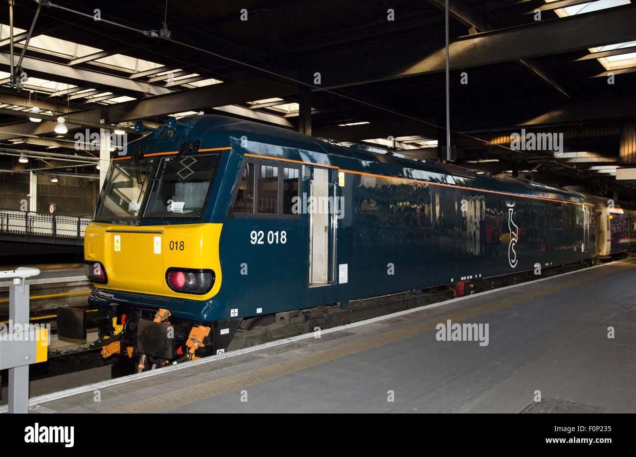 Serco Caledonian Sleeper Train Class 92 Electric