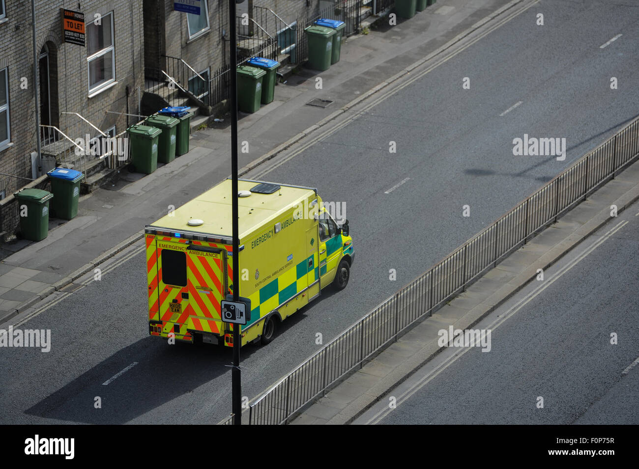 South central Ambulance on way to an emergency call in Southampton - Stock Image