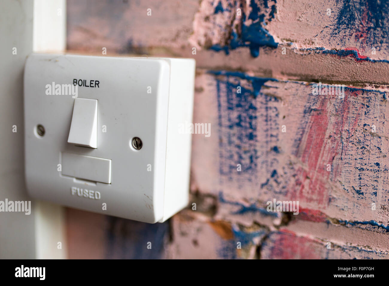 a boiler switch - Stock Image