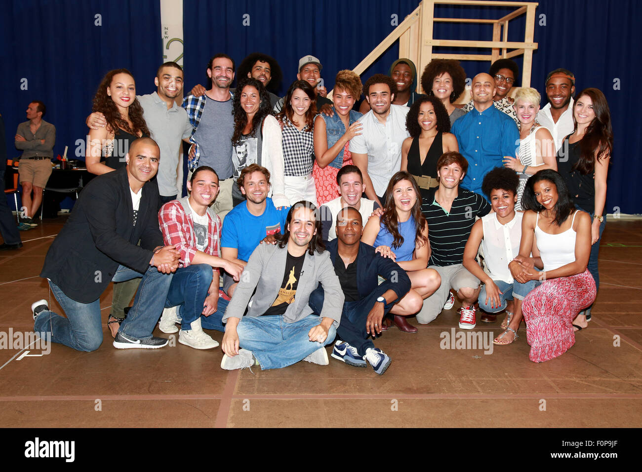 Photocall for Broadway musical 'Hamilton' held at New 42nd Street Studios.  Featuring: cast Where: New York - Stock Image