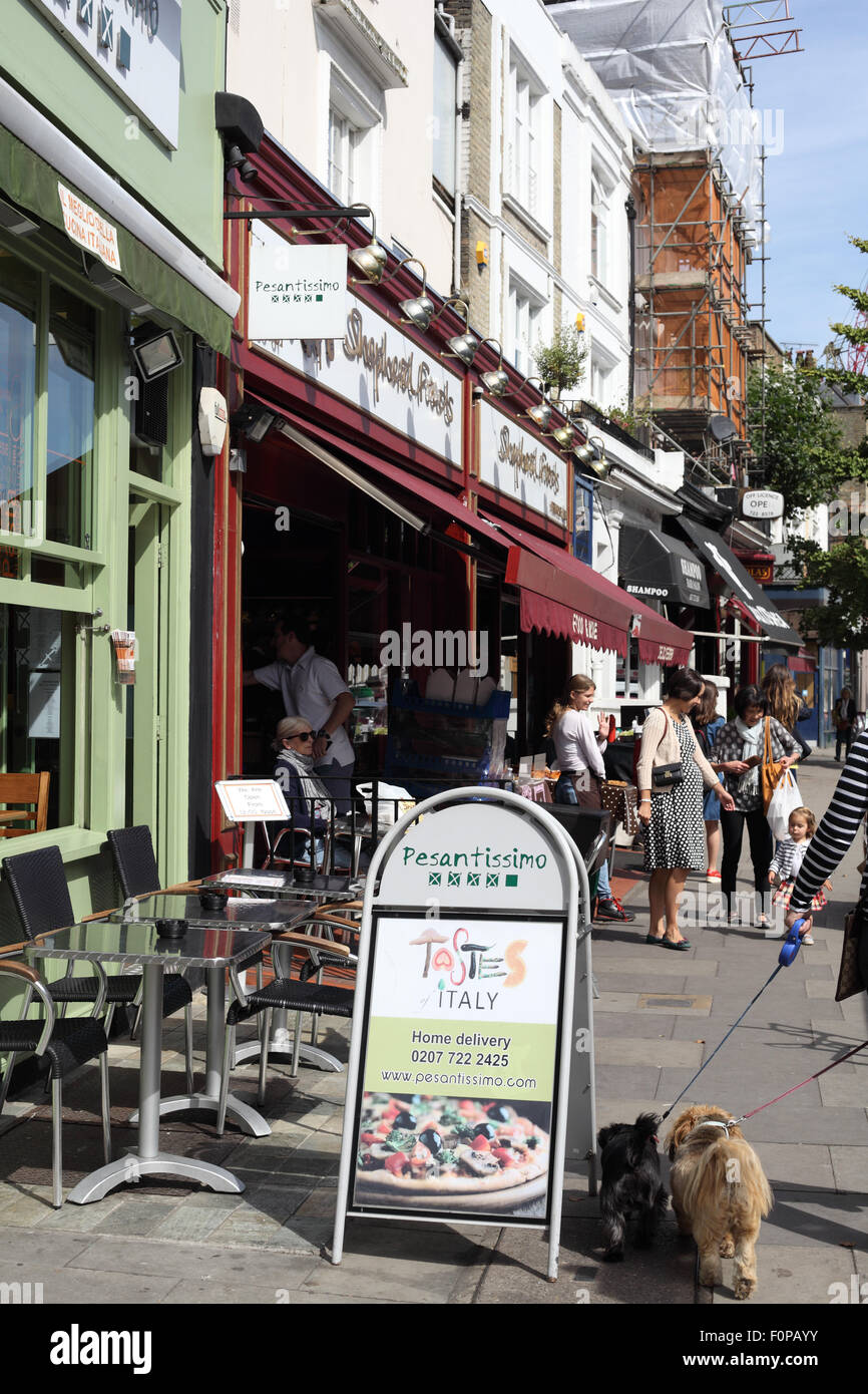 Regents Park Road In Primrose Hill With Its Trendy Cafes And Stock