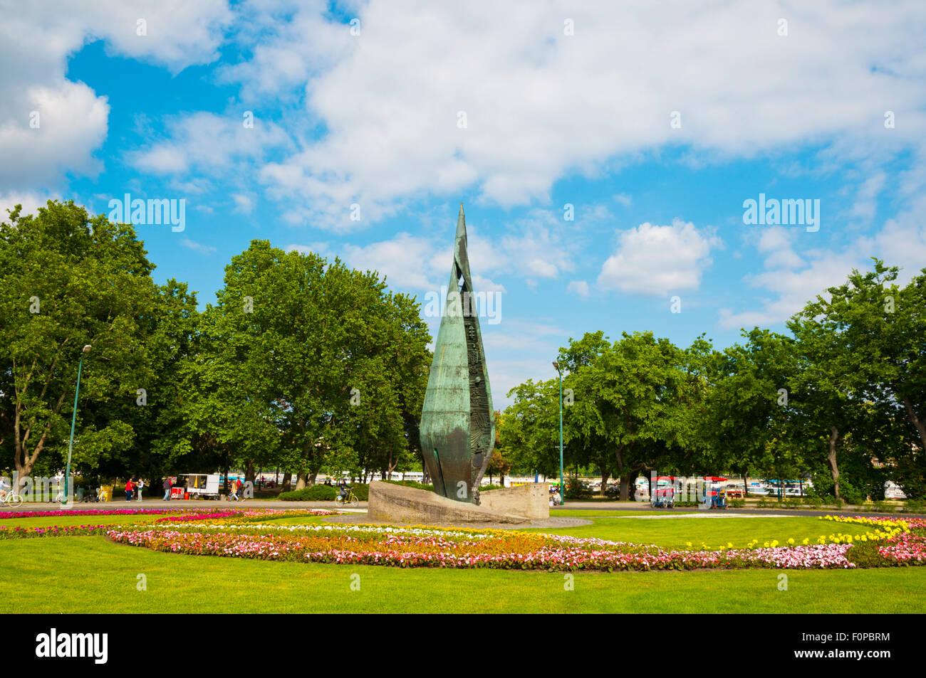 Centennial monument, Margit Sziget, Margaret Island, Budapest, Hungary, Europe - Stock Image