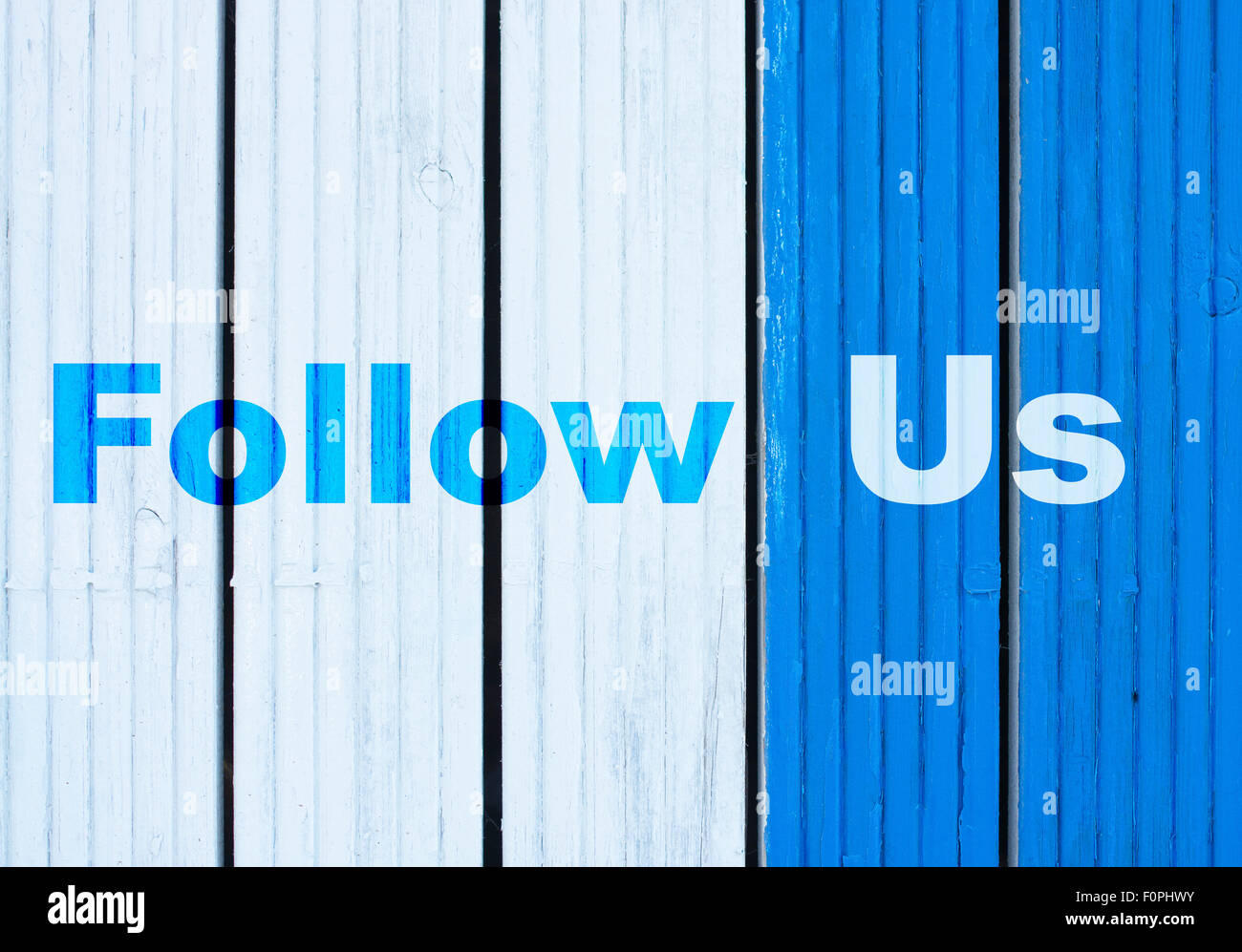 Follow Us - Stock Image