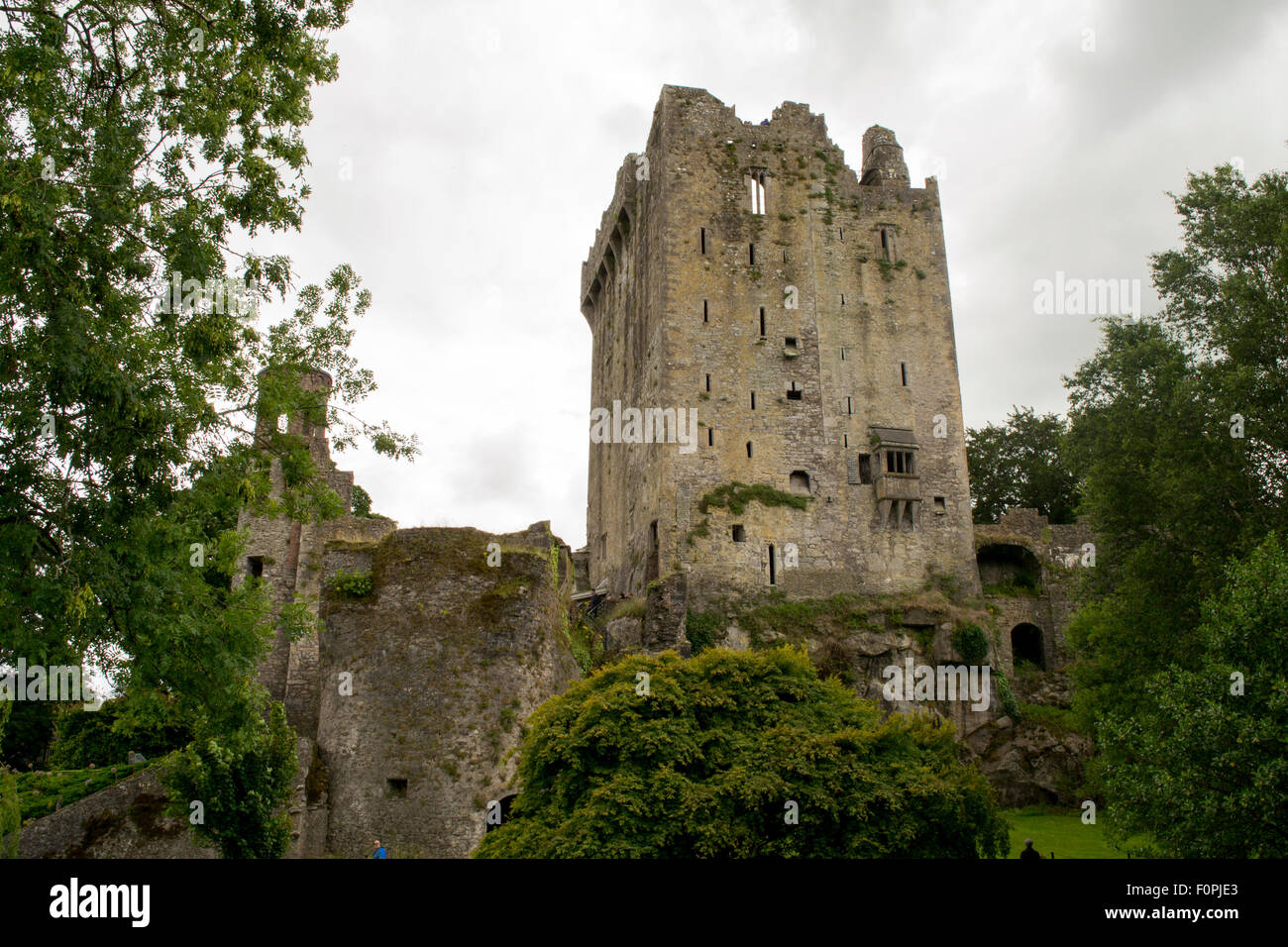 This is the Blarney castle in Cork, Ireland. - Stock Image