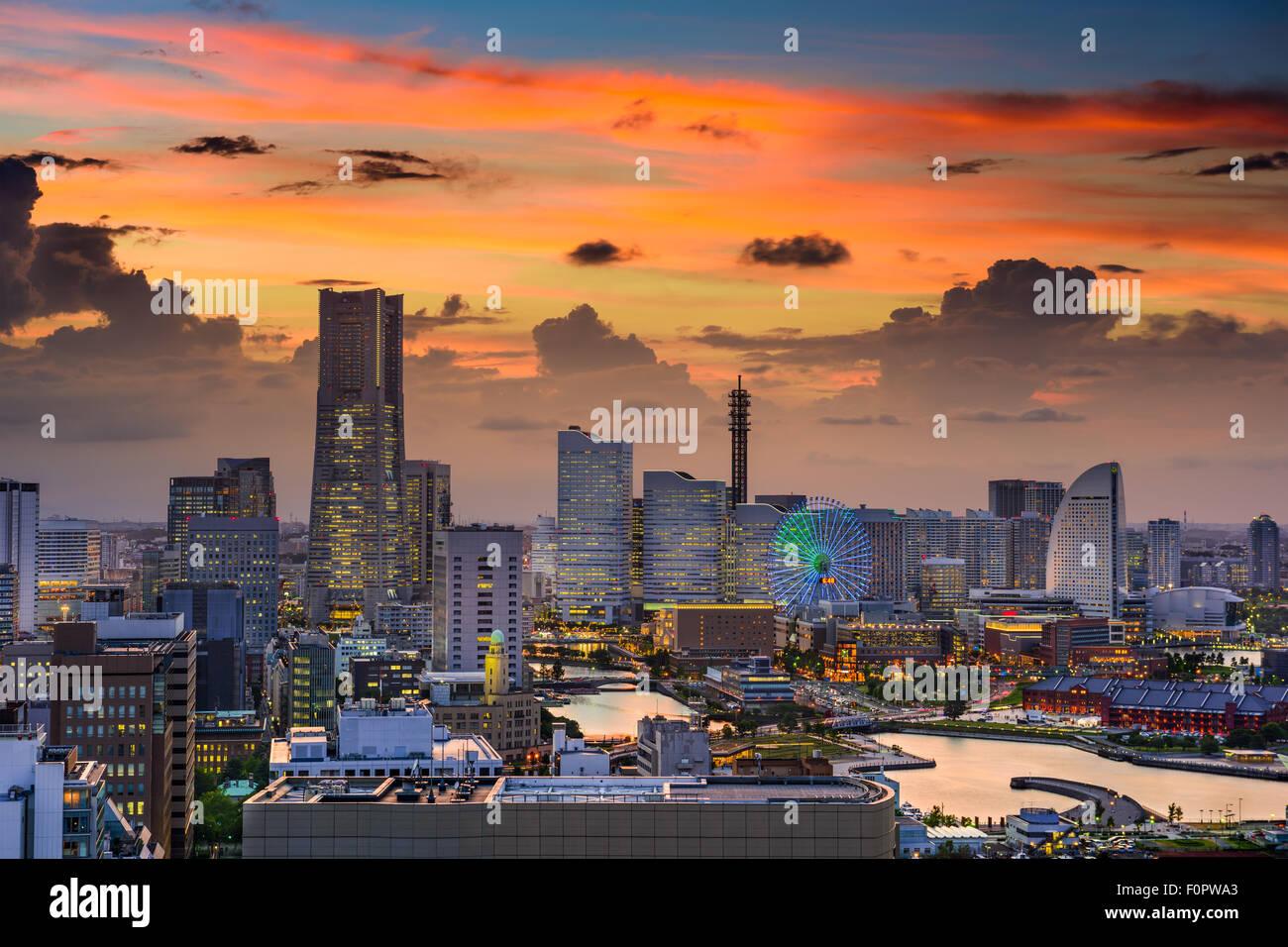 Yokohama, Japan cityscape of Minato Mirai District. - Stock Image