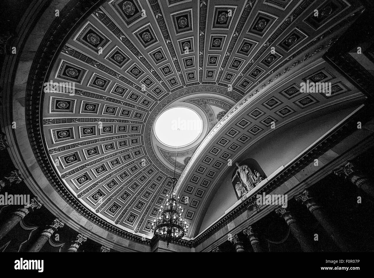 Ceiling Of The Old House Of Representatives Chamber - Stock Image