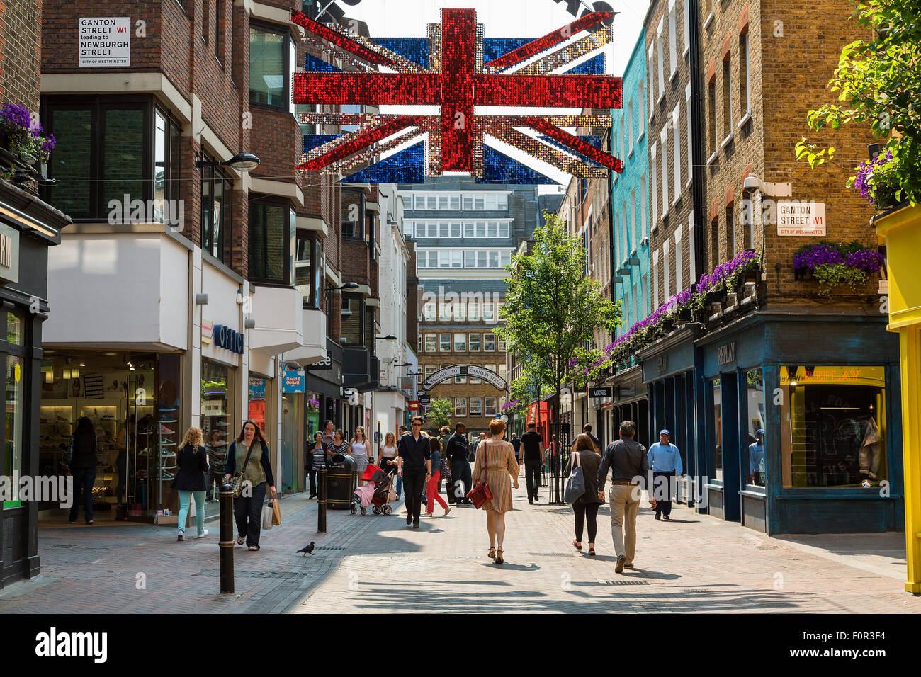 London, Carnaby Street - Stock Image