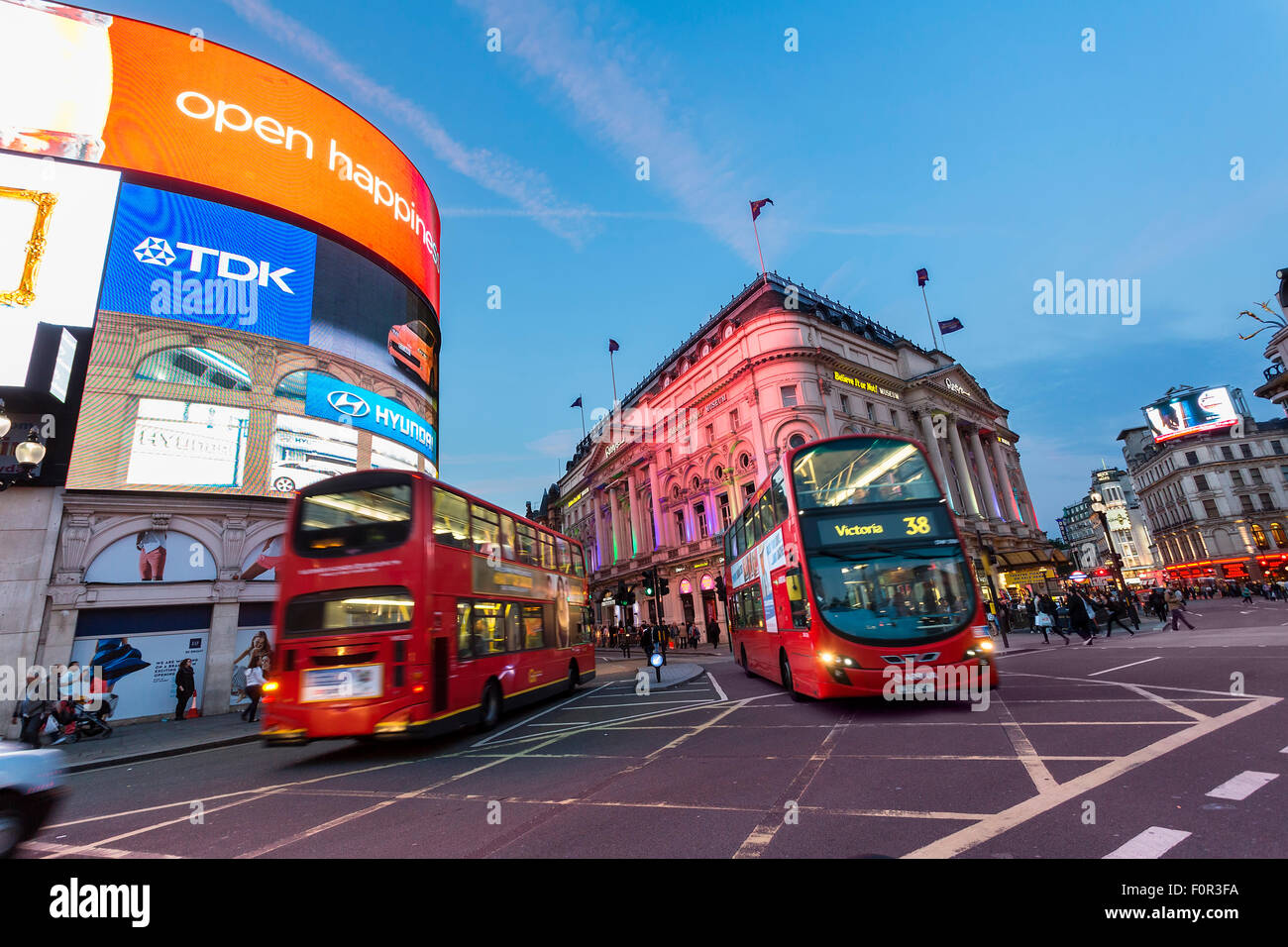 London, Traffic on Piccadilly Circus - Stock Image