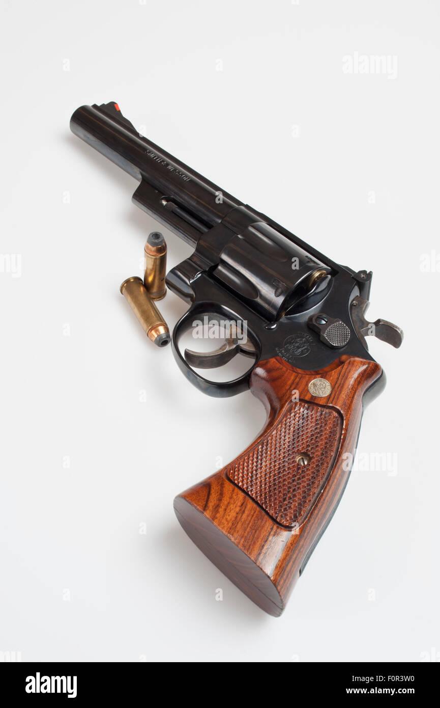 Handgun and ammunition - Stock Image