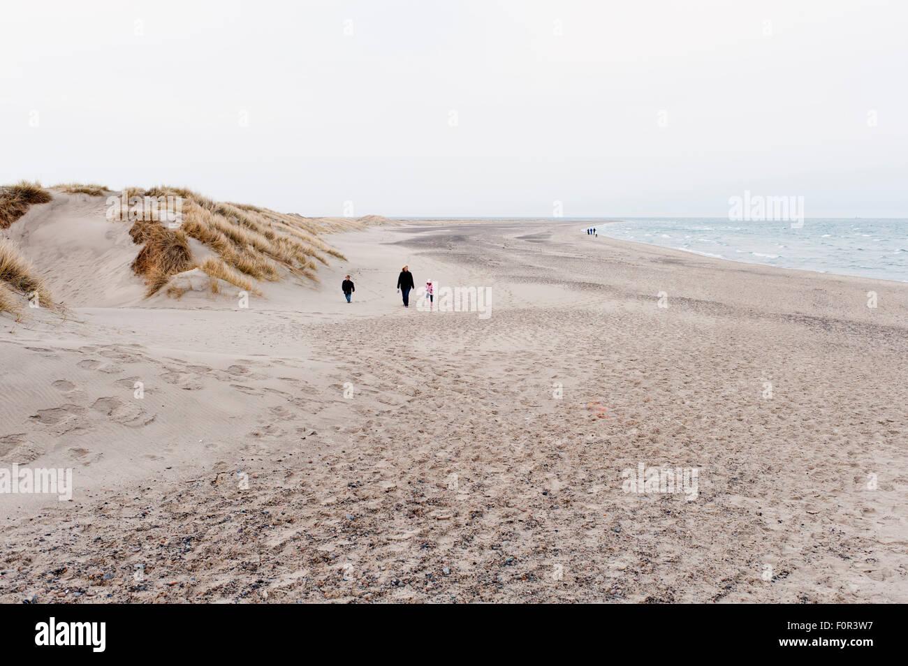 Walking the beach of Skagen, Denmark - Stock Image