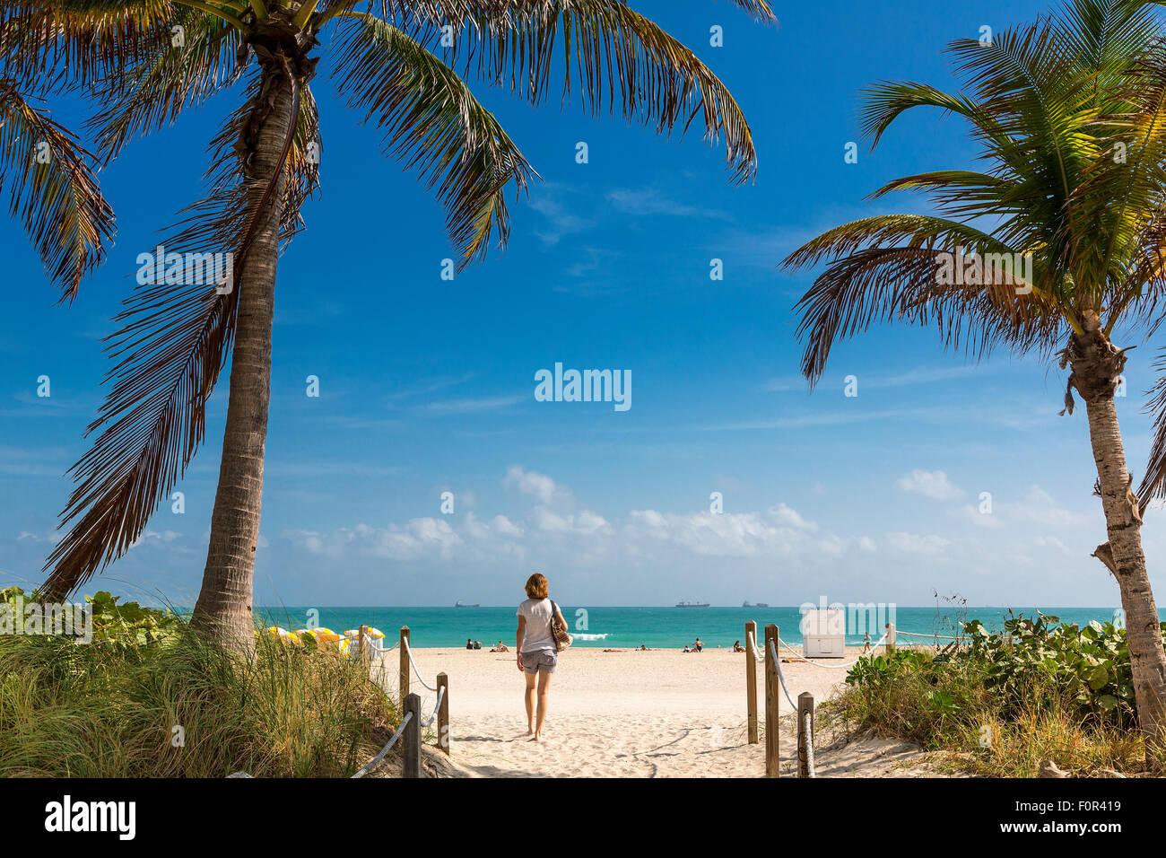 Florida, Miami, South beach - Stock Image