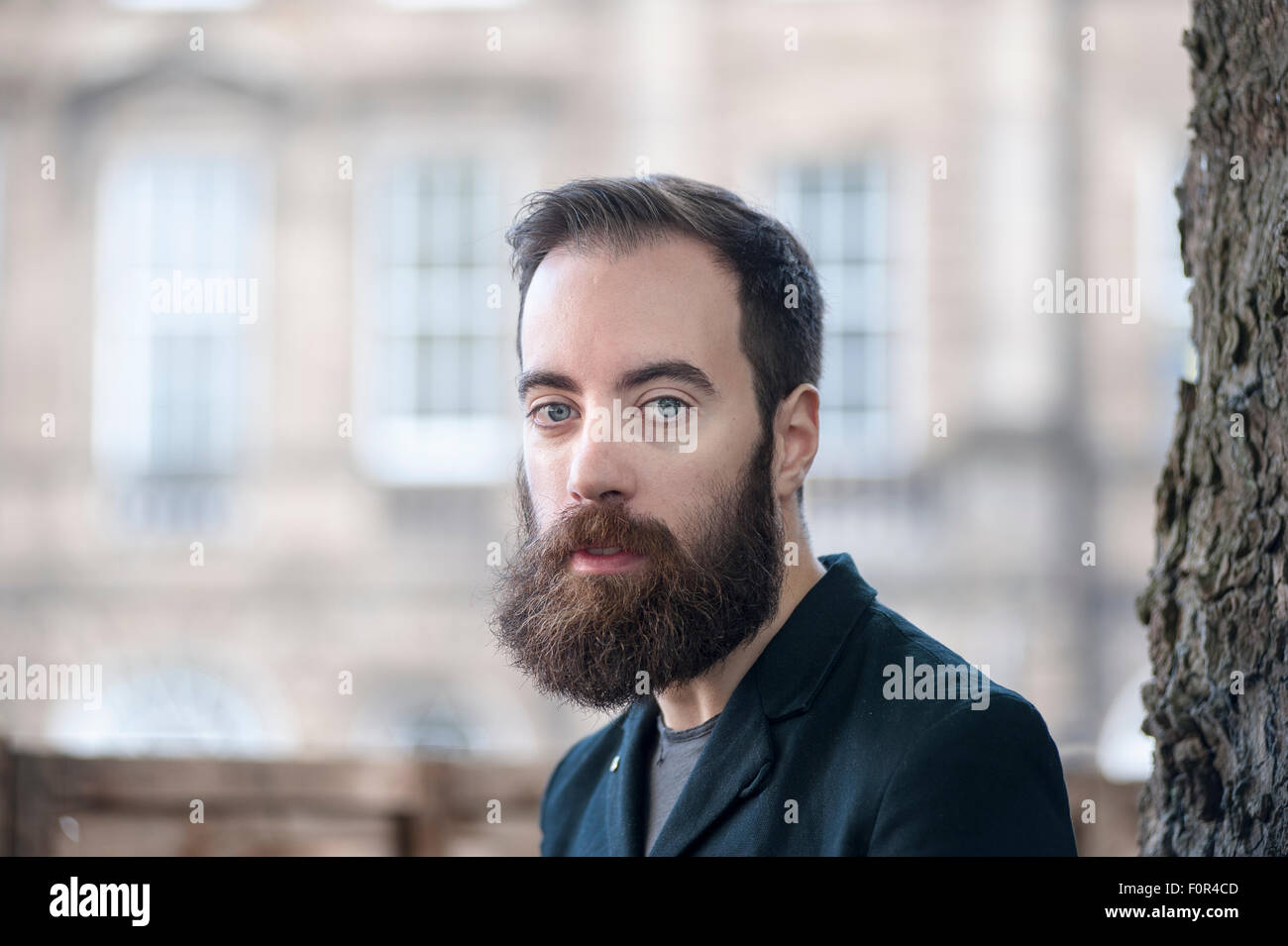 British novelist and journalist Ned Beauman, appearing at the Edinburgh International Book Festival. - Stock Image