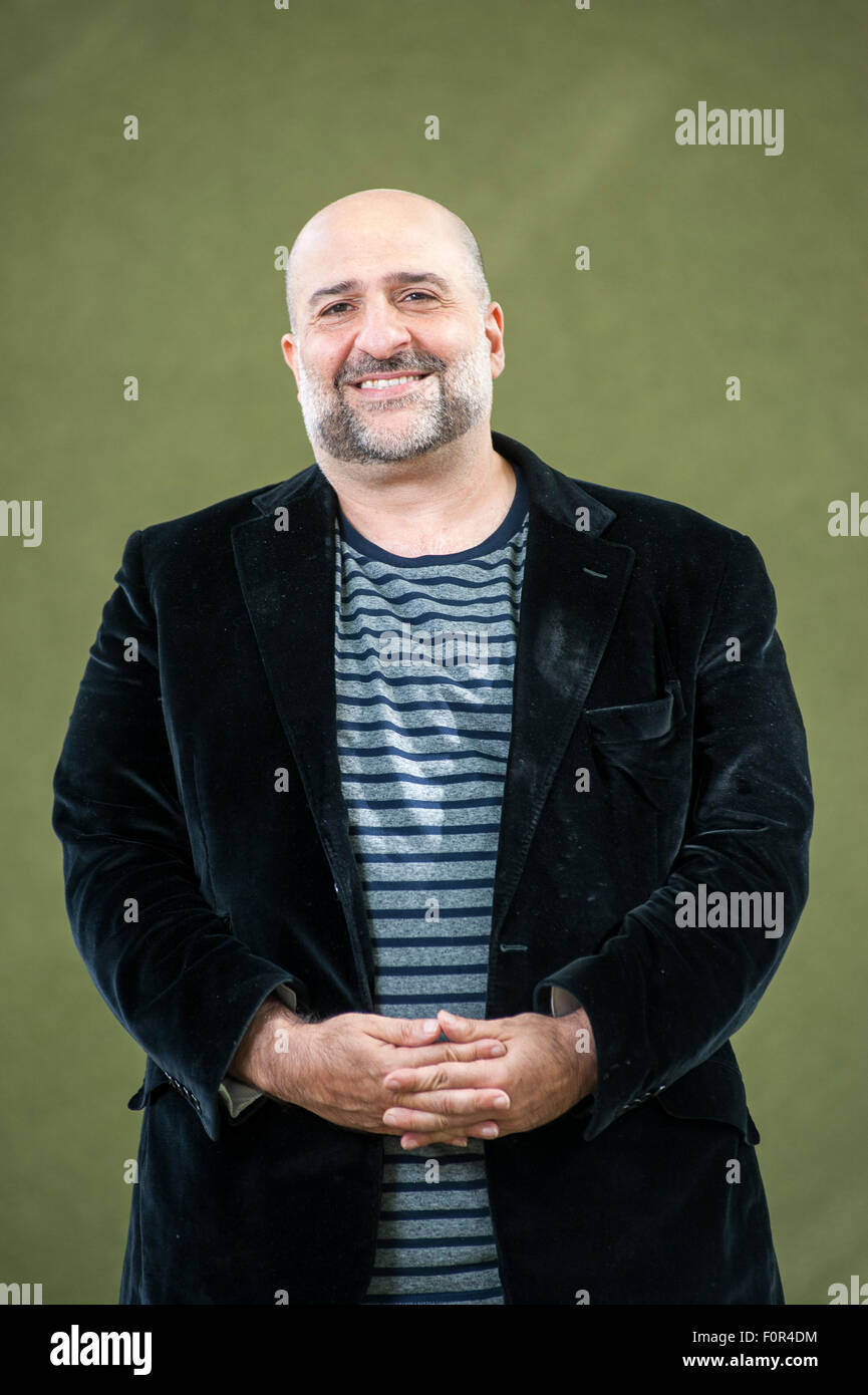 British stand-up comedian, actor, television producer, Omid Djalili, appearing at the Edinburgh International Book - Stock Image
